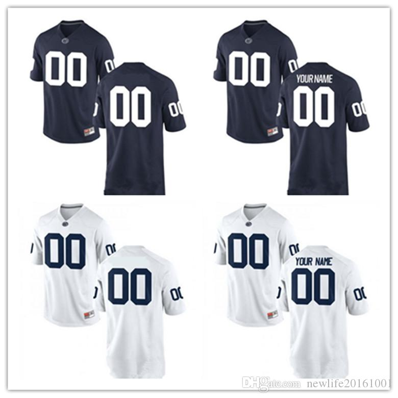 Mens Custom Penn State Nittany Lions Big 10 College Football Jerseys  26  1   2  88  9  47 14 Sean Clifford Name Navy Blue White Jersey S 3XL UK 2019  From ... 2b984b0f8