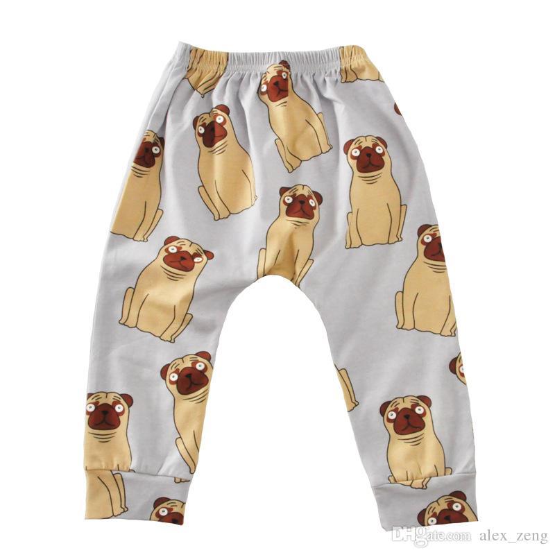 Baby Flamingos Leggings Animal Printed Haroun Pants Cartoon PP Pants Fox Penguin Collant Moda Casual Pantaloni Abbigliamento bambini