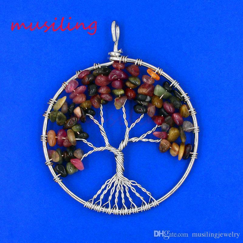 Pendenti con pendenti in pietra naturale Pendenti in pietra naturale con ciondoli a forma di Reiki Accessori Amuleto di guarigione europeo Gioielli di moda le donne