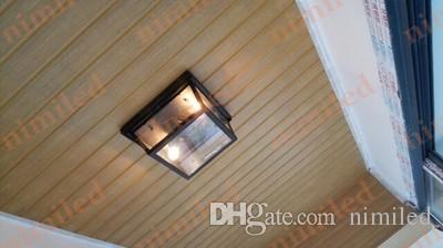 nimi811 American Personalized Creative Industries Retro Eisen Vintage Schlafzimmer Glas Box Veranda Balkon Beleuchtung Gang Bar Deckenleuchten Lichter