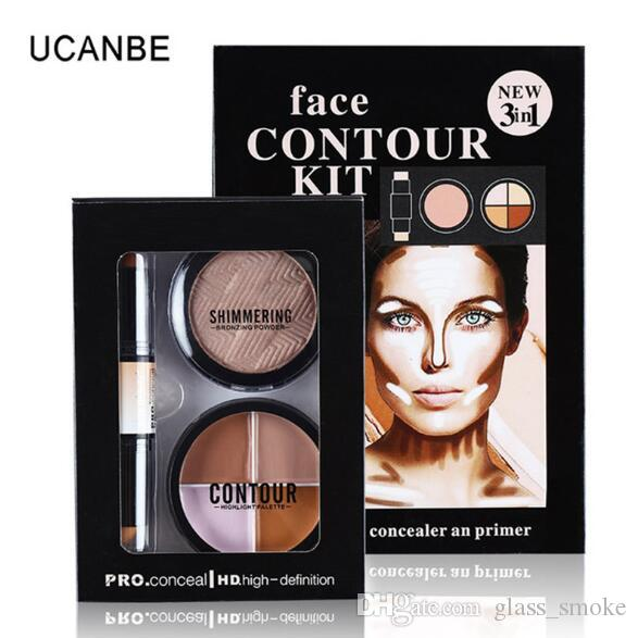 3in1 Face Contour Kit Cream Makeup Brands Face Powder