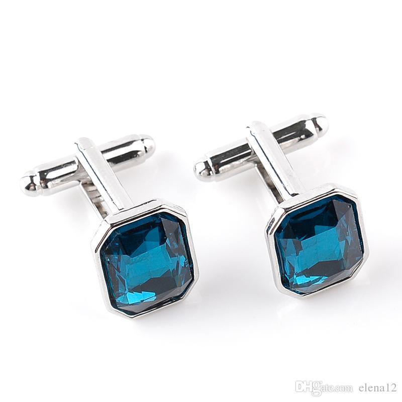 Takı Için Kristal Klasik Kol Düğmeleri Erkek Moda Kol Düğmesi High-End Düğün Takı Kol Düğmeleri dört renk kristal kol düğmeleri 170609
