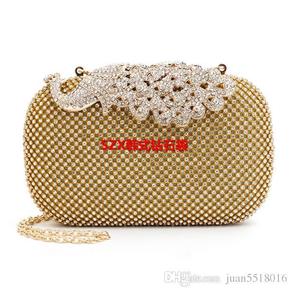 Neue Frauen Diamanten Luxus Top Abendtaschen Tag Kupplung Messenger Schulter Kette Handtaschen mit Acryl Mini Geldbörse