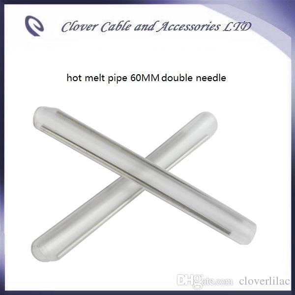무료 배송 광섬유 열 수축 튜브 60mm 섬유 핫 멜트 파이프 더블 니들