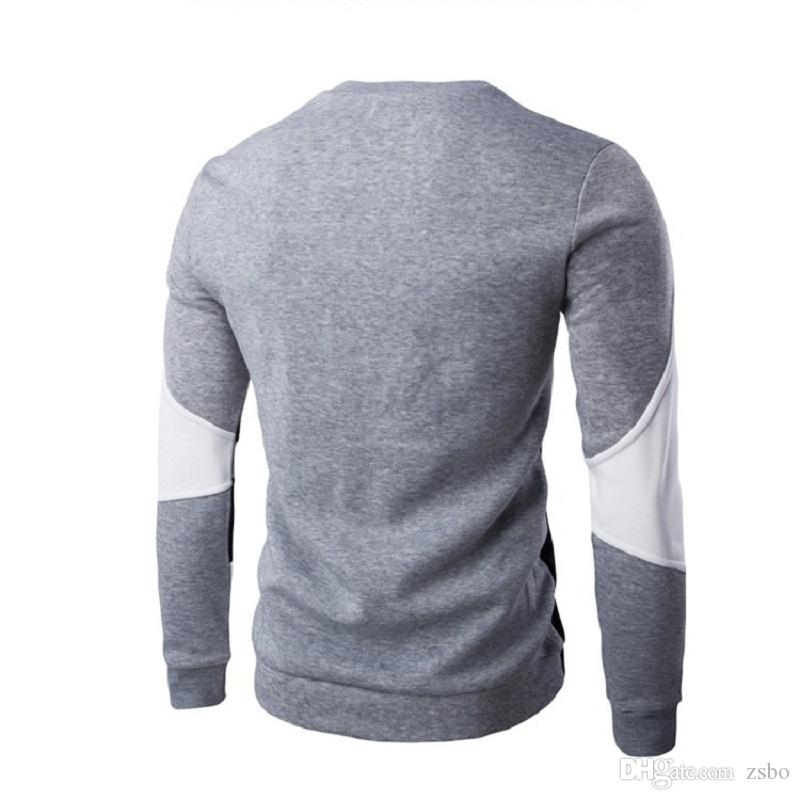 Fashion 2017 autumn new striped sweater men polo brand patchwork Sweaters pullover long sleeve high quality cashmere sweater men WY02 RF