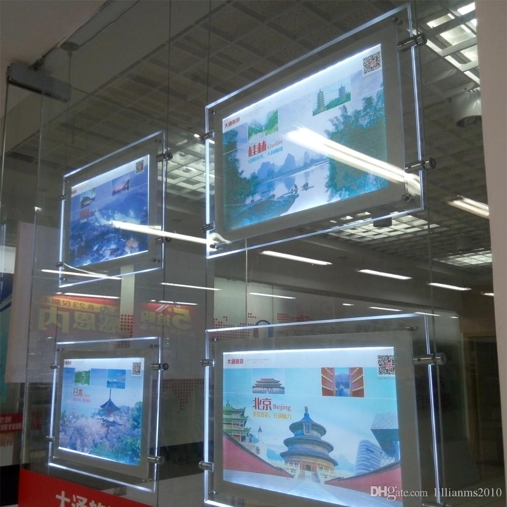 Compre Ventana Iluminada Por Led Panel De Visualización De Acrílico ...
