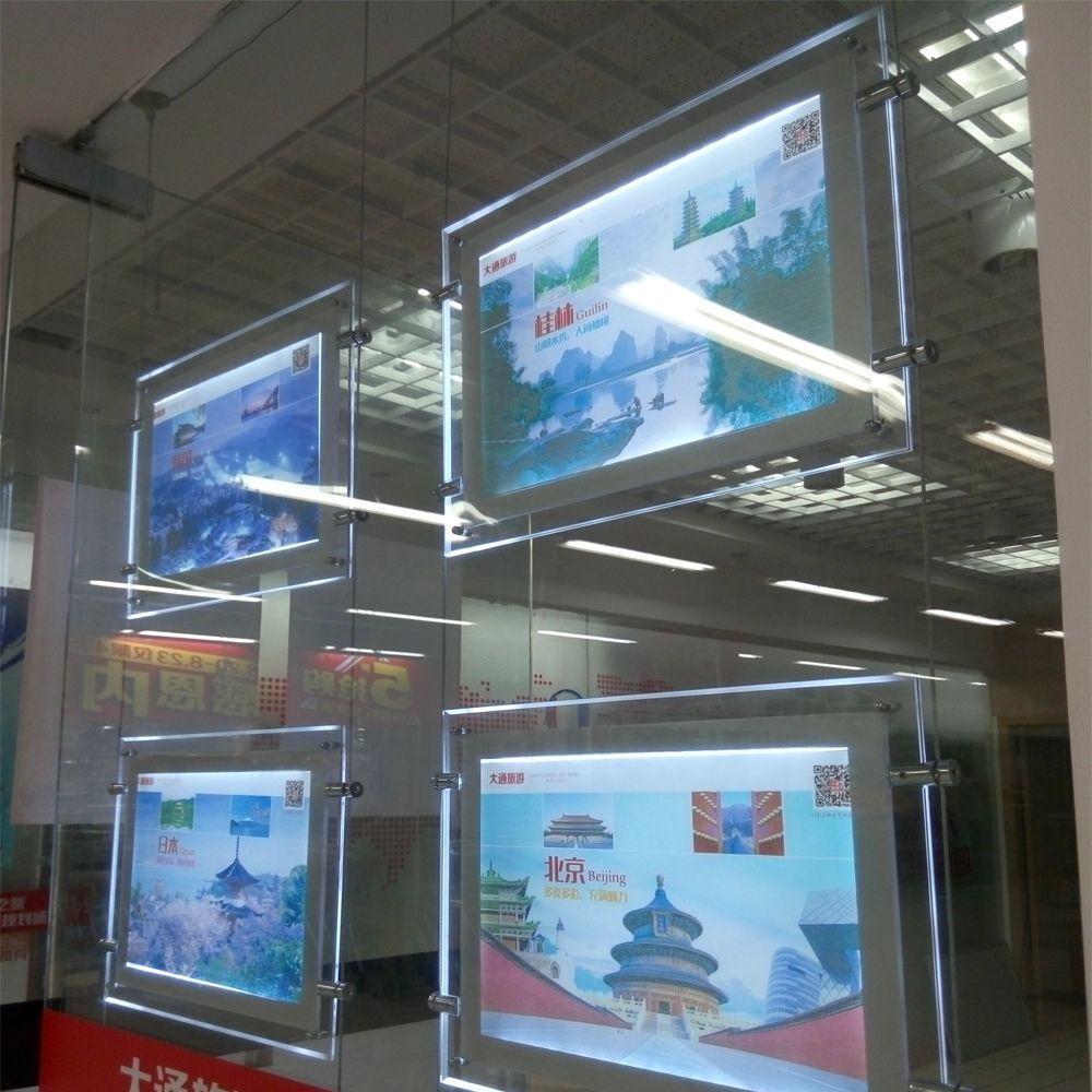 Window Led Illuminated Display Acrylic Panel A2 Light Box