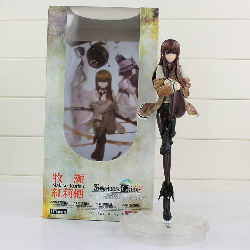 Steins Portão Makise Kurisu 1/8 Escala PVC Action Figure Coleção Modelo Toy para Presentes de Natal 9 ''