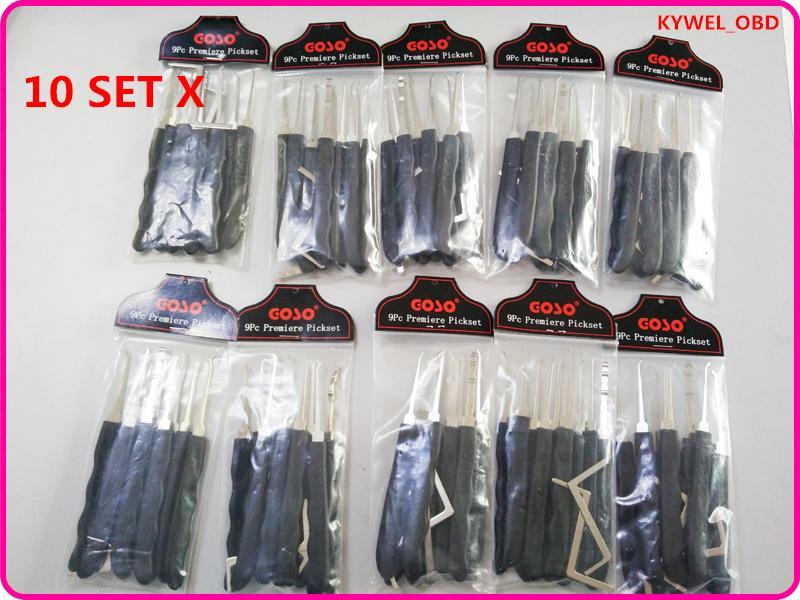10 세트 GOSO 블랙 의 후크 잠금 픽업 세트 디펜드 잠금 뜨거운 판매에 대한 텐션 렌치와 함께