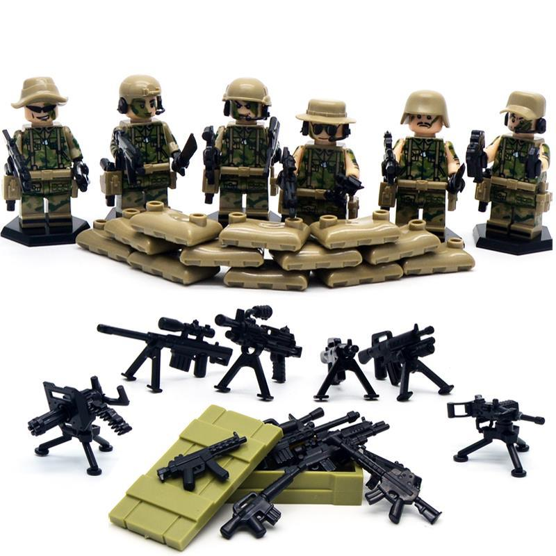 Swat Heavy Fire Special Weapons And Tactics Kid Baby Toy Mini Figure