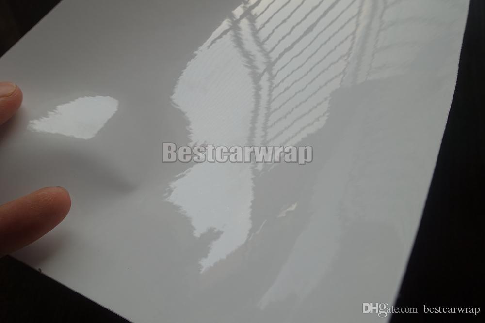3 слоя белой ультра высокой глянцевой виниловой пленки высокой глянцевой автомобильной пленки с воздушным пузырем свободный размер фольги:1.52*20 м/рулон