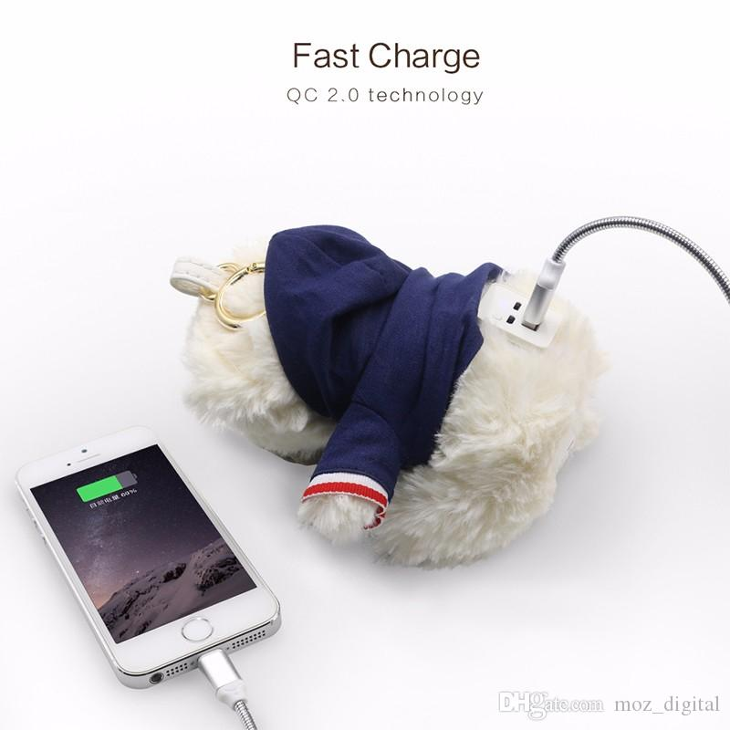 CYKE Portable Plush Toy Bear Power Bank 6000mAh 2.0A Mobile Charger Christmas Gift External Battery Pack For Universal Phone
