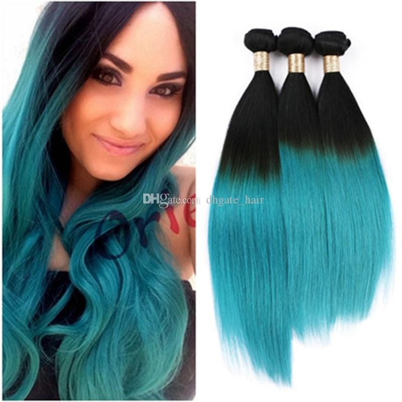 Cheap ombre 2 two tone 1b green hair weave malaysian human hair cheap ombre 2 two tone 1b green hair weave malaysian human hair extensions 3 bundles silk straight ombre green hair weaving black hair weave magazine hair pmusecretfo Images