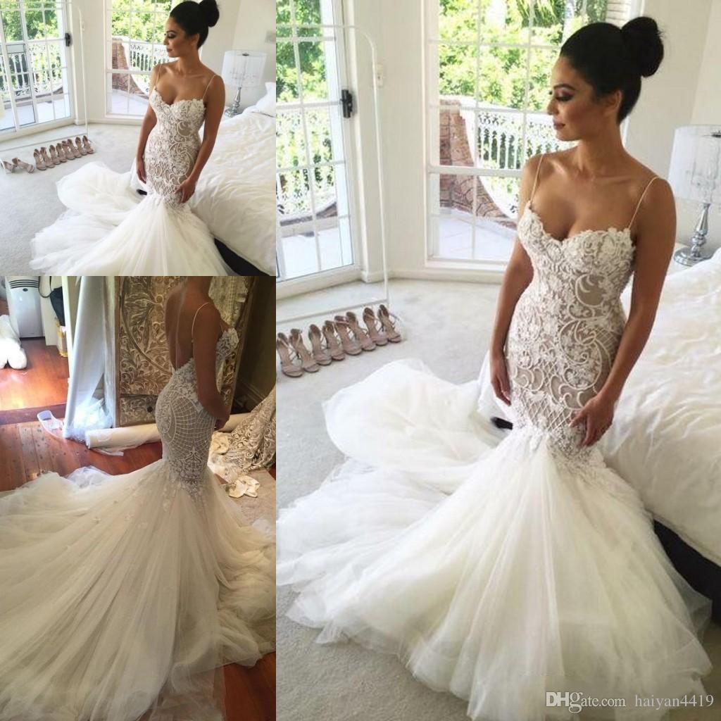 Grosshandel 2018 New Gorgeous Plus Size Mermaid Kleider Hochzeit