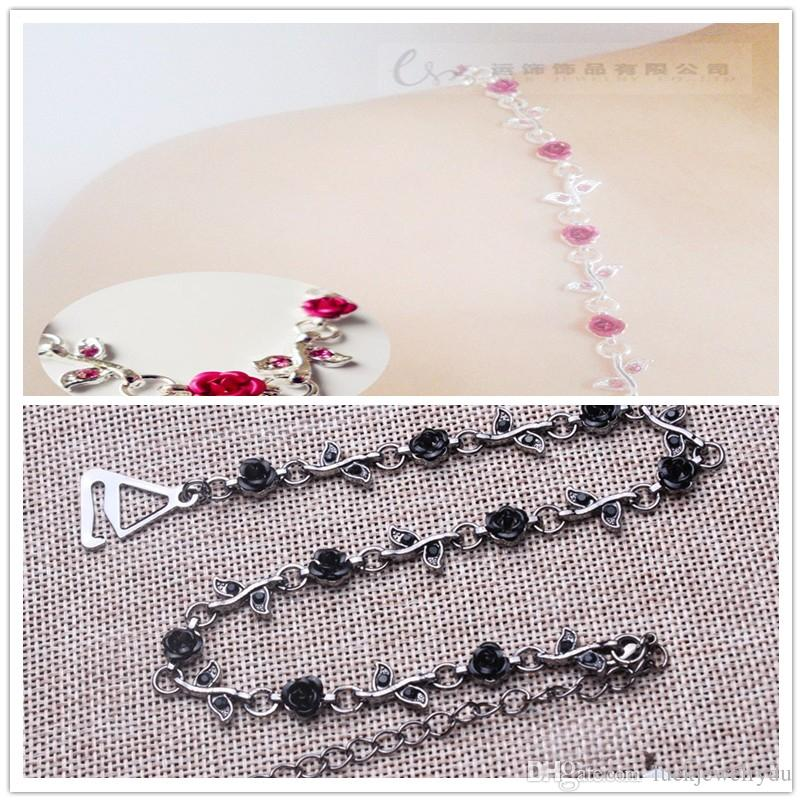 SEXY ROSE حمالة الصدر ، 12prs / مجوهرات الزفاف HOTSALE ، قابل للتعديل حمالة صدر accessoriesfree الشحن