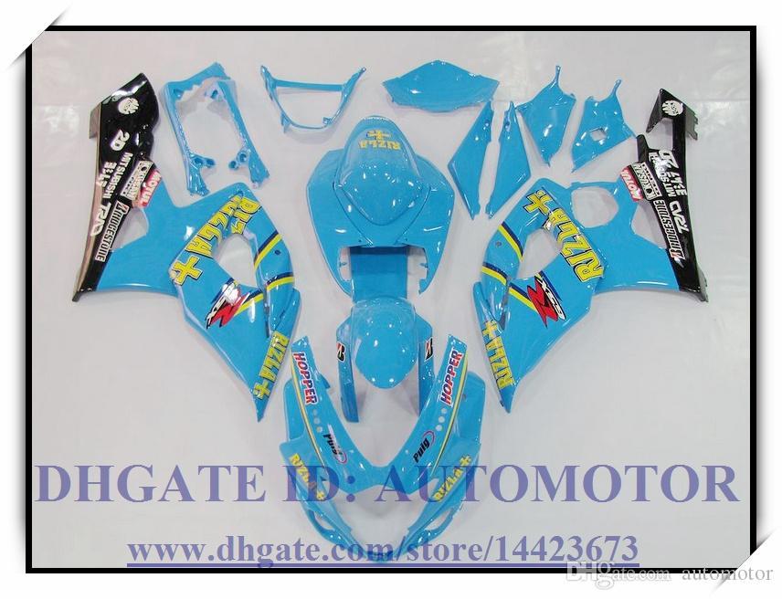 Kit de carénage Injection 100% neuf pour Suzuki GSXR1000 05 06 GSX-R1000 2005 2006 GSXR 1000 2005 2006 # VK883 BLEU DE COULEUR