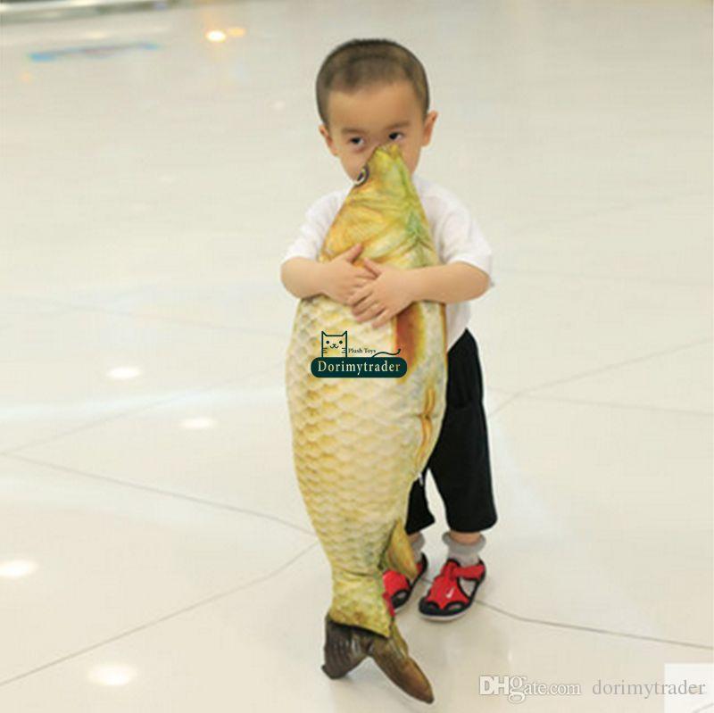 Dorimytrader 80 см х 25 см большая плюшевая эмуляционная игрушка рыбка мягкая мягкая игрушка рыба кукла подушка хороший подарок ребенку бесплатная доставка DY61178