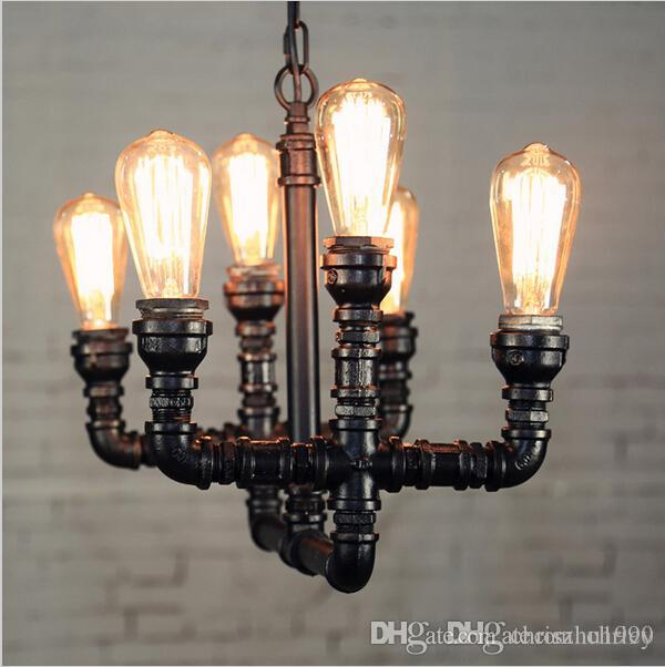 2016 new arrivals Loft Pendant Light Art Water pipe Pendant light fixture industrial pendant light bar decoration
