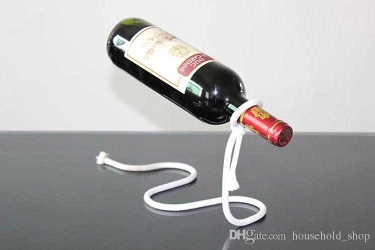 Красный бутылки вина держатель Творческий подвески каната цепи поддержки Рамка для красного вина Бутылка 3см домашнего интерьера украшения Бесплатная доставка