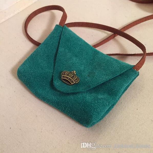 Kinder Mädchen Kuh Leder Hangbags 2016 Baby Mädchen Vintage Style Mini Nette Tasche Mädchen Umhängetasche BY0000