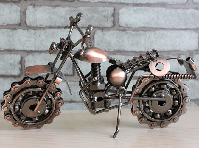 너무 멋지다! 도금 오토바이 모델 크리 에이 티브 선물 금속 철 공예 21cm * 8cm * 10cm 도매 무료 배송