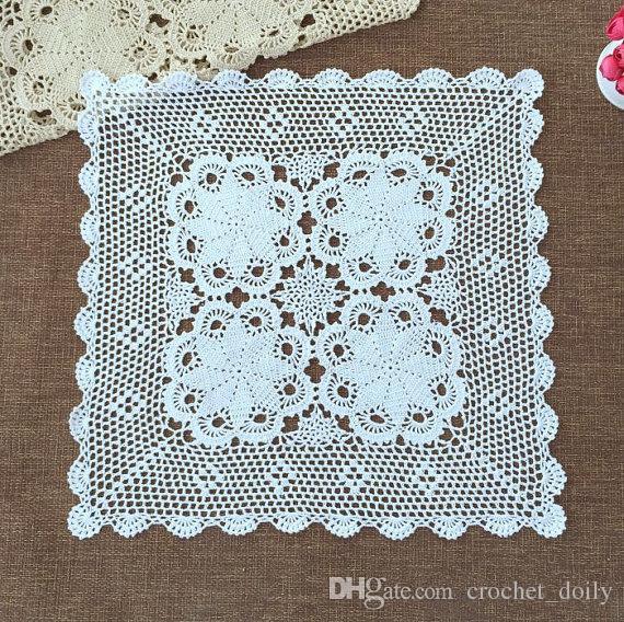 quadrato 60x60 cm copertura a maglia, tovaglia stile vintage, 100% handmade modello Chic copertura piazza la decorazione domestica, regalo piacevole la mamma