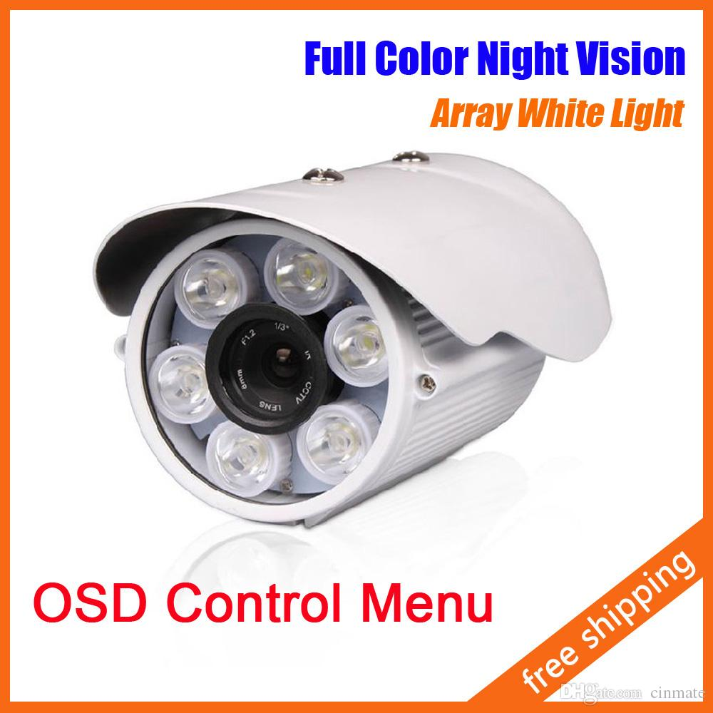6 Array White LED Day Night Outdoor Bullet Camera CCTV Camera ...