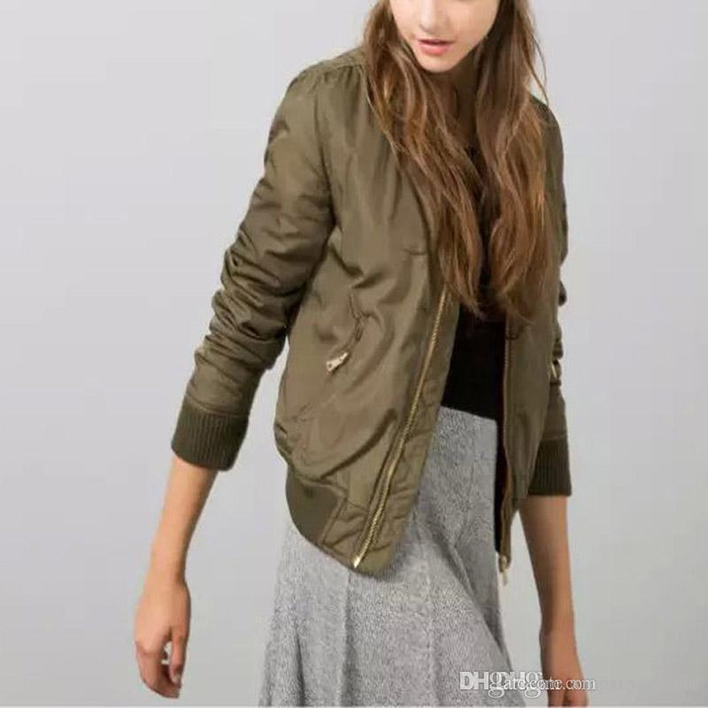 2016 Winter Flight army green bomber jacket women jacket and women's coat  clothes bomber ladies - 2016 Winter Flight Army Green Bomber Jacket Women Jacket And