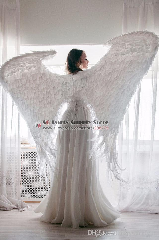 New Costume Adult's white black Devil feather wings Cosplay cosplays photography Game Display props EMS