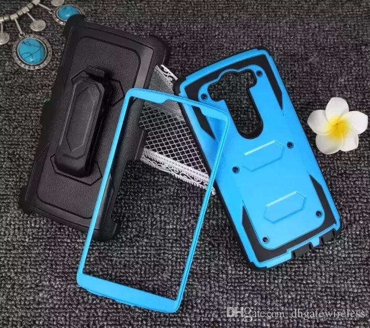 For LG G4 Pro V10 360 Rotating Ring Hybrid Armor Stand Case Rugged Defender Cover With Screen and Belt Clip Holster