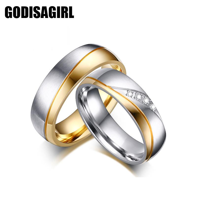 2018 Couple Rings For Women Men Aaa Cubic Zirconia Wedding Ring Stainless  Steel Female Promise Jewelry From Jacky20160422, $5.9 | Dhgate.Com