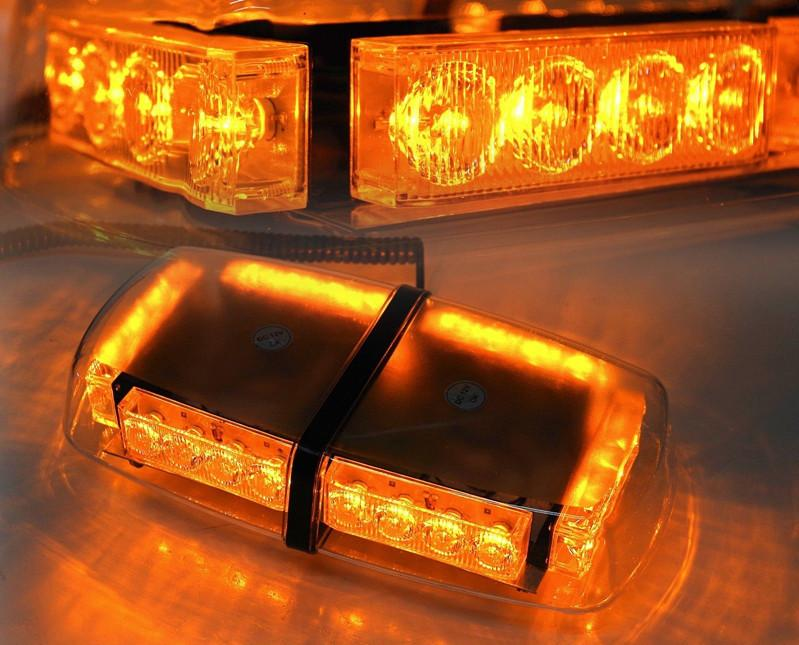Cyan Soil Bay Amber/Yellow 24 Led Car Emergency Warning Rooftop ...