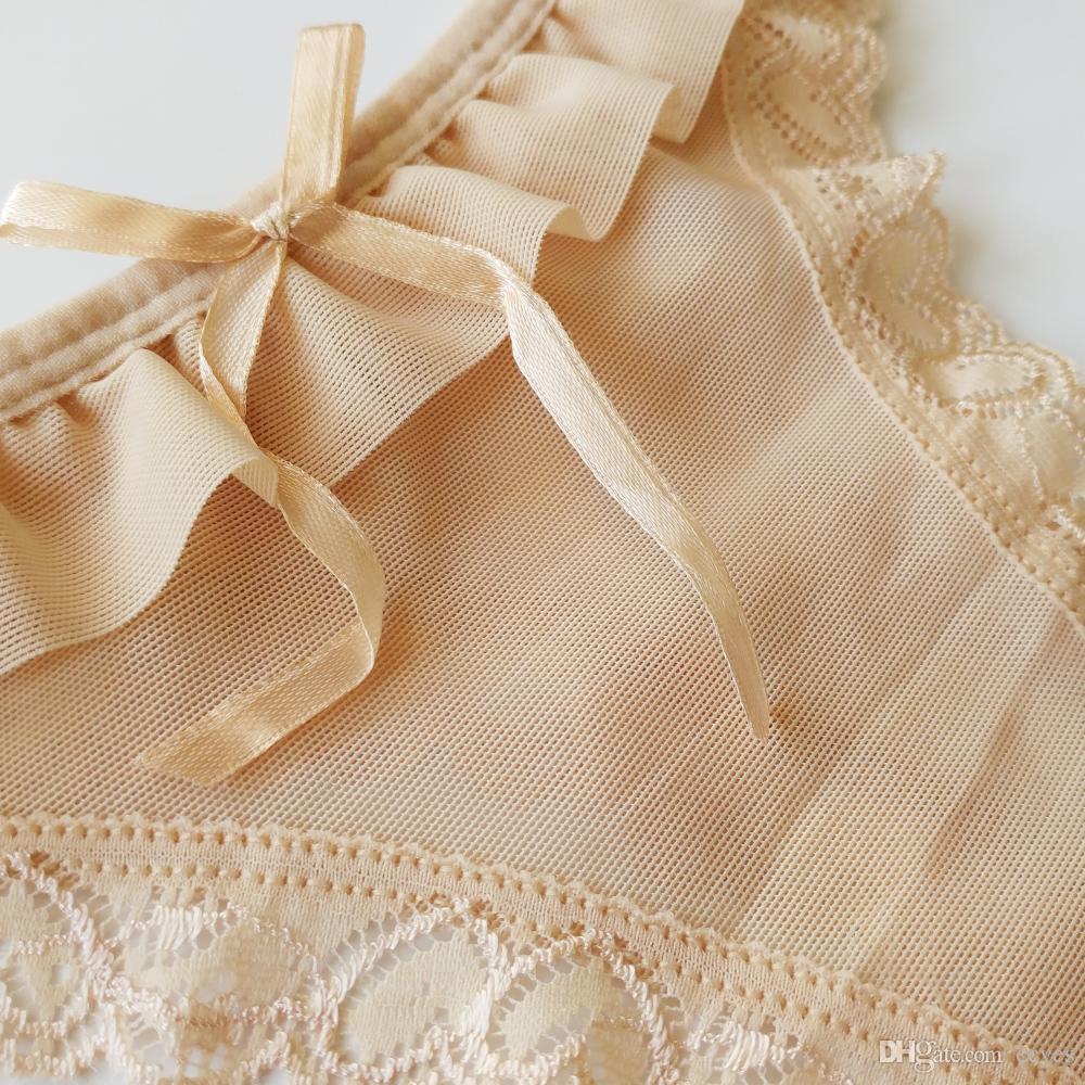 2017 여성에 대 한 새 팬티 섹시한 메쉬 T 팬티 통풍 팬티 투명한 속옷 걸스 Underpants1504