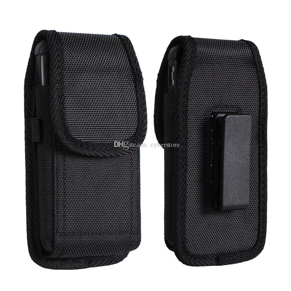 Para Galaxy S7 Note 5 Universal Nylon Sport Holster Clip de cinturón Funda para teléfono Funda para iphone 6 5.5 pulgadas