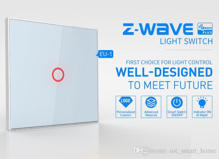 Z Wave 1ch Eu Wall Light Touch Screen Switch Home