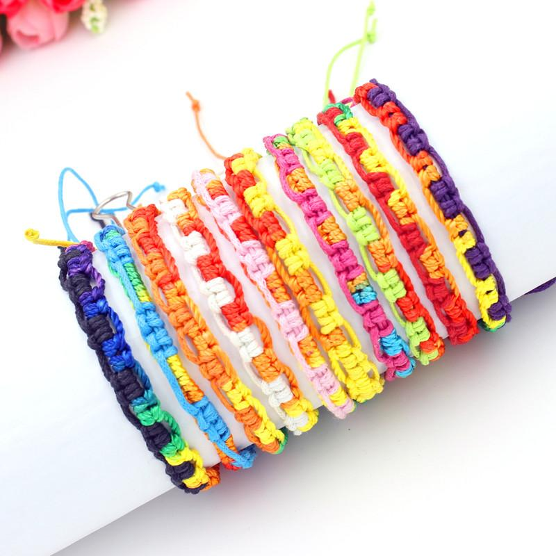Bohemian Brand Bangle Weave Cotton Friendship Bracelet