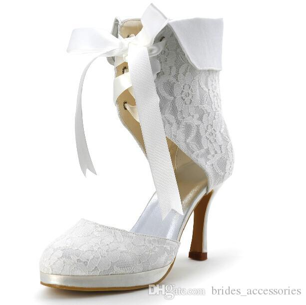 2015 Lace Wedding Dress Boot Tea Length Cowgirl Boots Thin