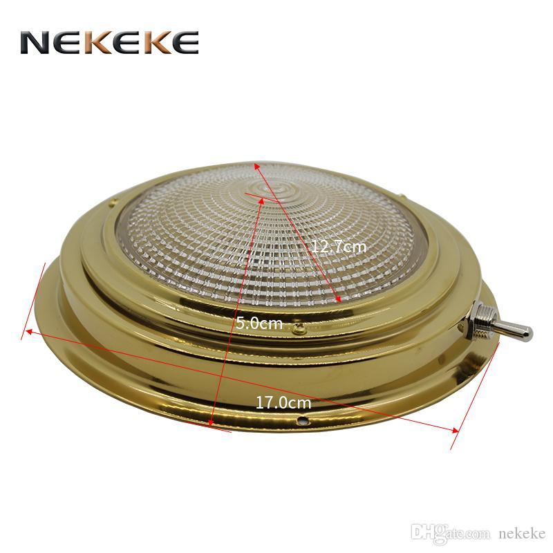 2018 yacht boat lights brass ceiling ceiling lamp 12v 15w 5 dome 2018 yacht boat lights brass ceiling ceiling lamp 12v 15w 5 dome light available in both bulb and halogen style from nekeke 654 dhgate aloadofball Choice Image