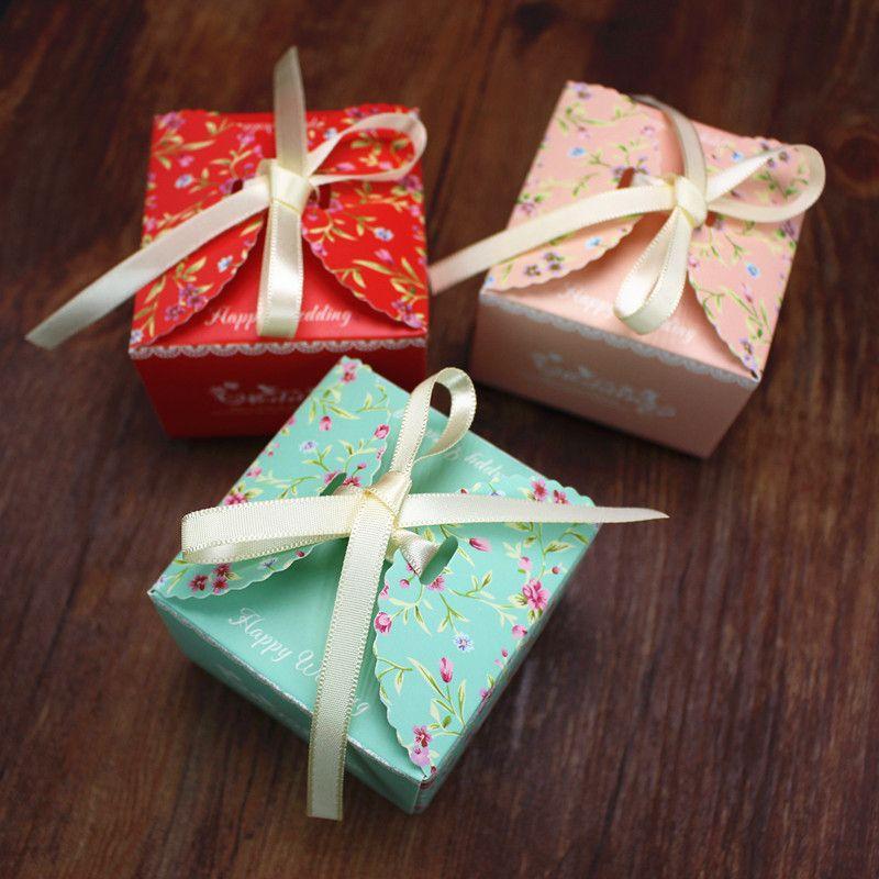 Baby shower gift boxes diabetesmangfo romantic wed favor box with ribbon baby shower gift box party baby shower negle Choice Image