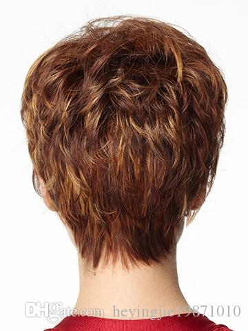 Xiu Zhi Mei 2017 Hot sell DIscount Style 6inch brown color synthetic afro hair Natural short wigs for black women