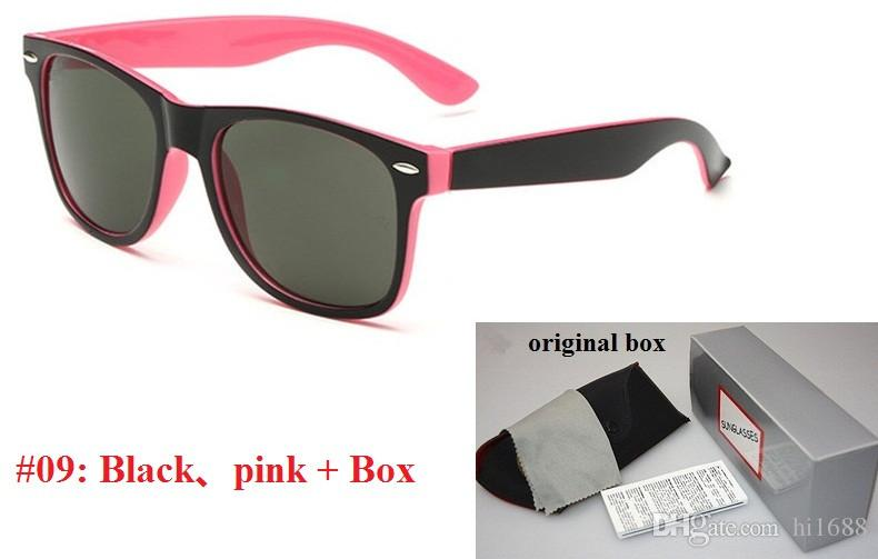 박스 및 케이스와 고품질 브랜드 디자이너 패션 선글라스 남성 UV400 보호 야외 스포츠 빈티지 선글라스 여성 레트로 안경