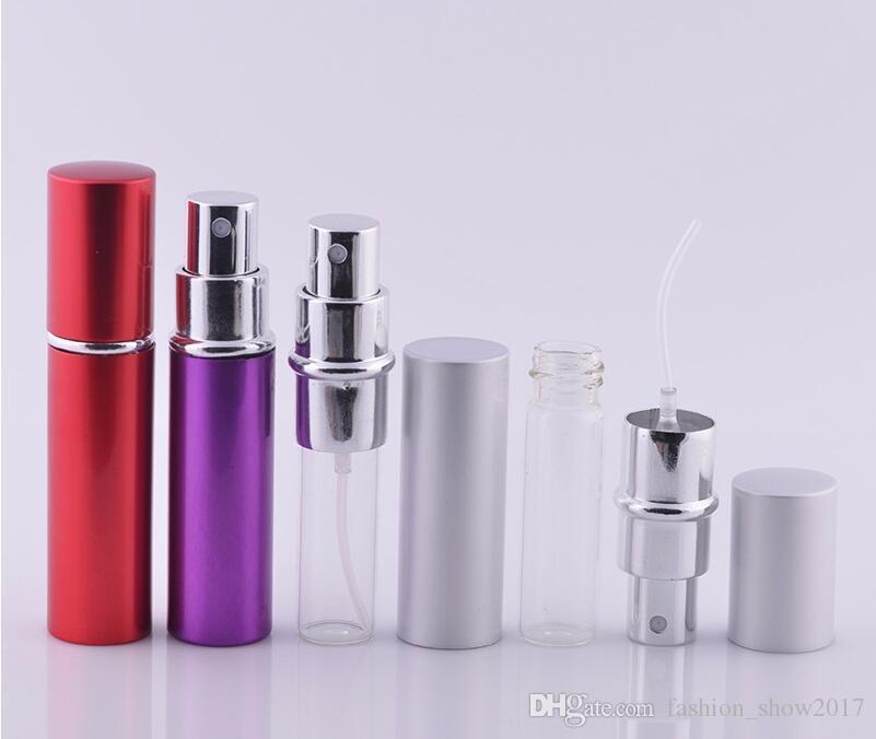 5ml 10ml Mini-Spray-Parfüm-Flasche-Reise leerer kosmetischer Container-Zerstäuber Aluminium-Nachfüllflaschen