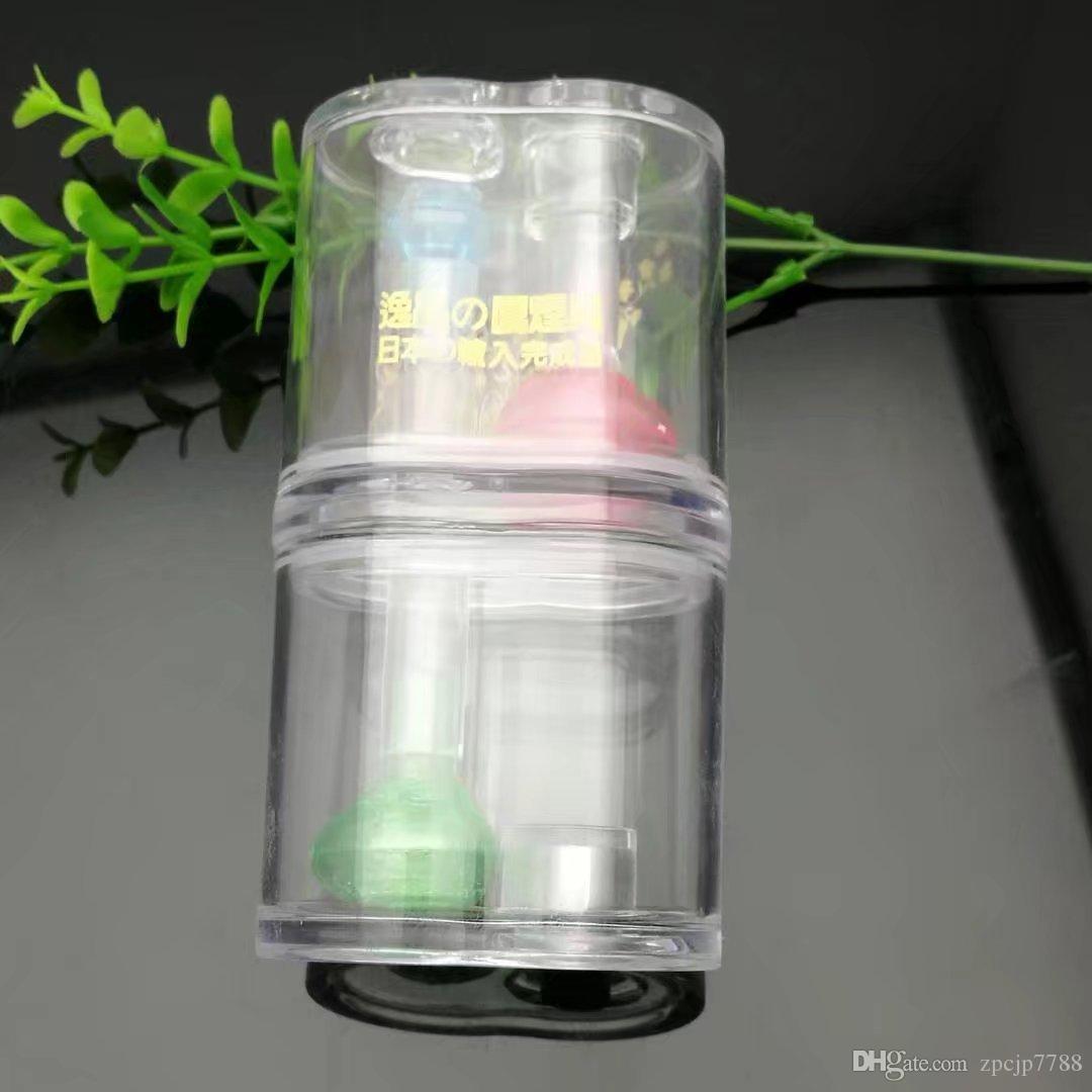 Двойной акриловый кальян, оптовые бонги масляная горелка стеклянные трубы водопроводные трубы стеклянная труба буровые установки для курения бесплатная доставка