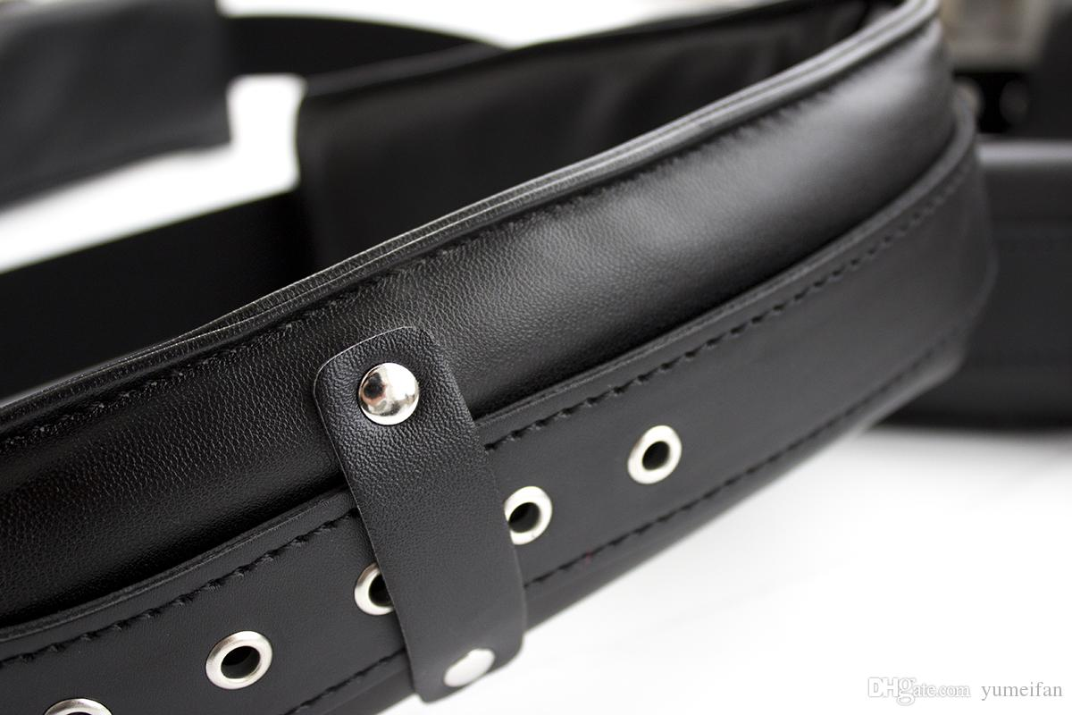 High quality PU Sex Bondage Orgasm Belt Thigh Sling Strap Suit Legs Spreader Padded Shackles Open Legs Restraint