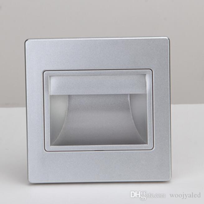 led smd wall Sconce lights lighting 85-265V Recessed Led Stair Light In Step Lamp stairway lamps warm / cool white with 86 box