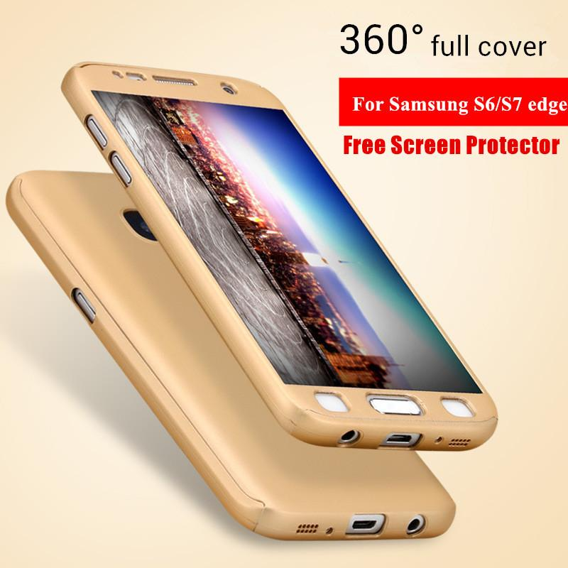luxury cases for samsung galaxy s6 edge s7 edge 360 degree full body