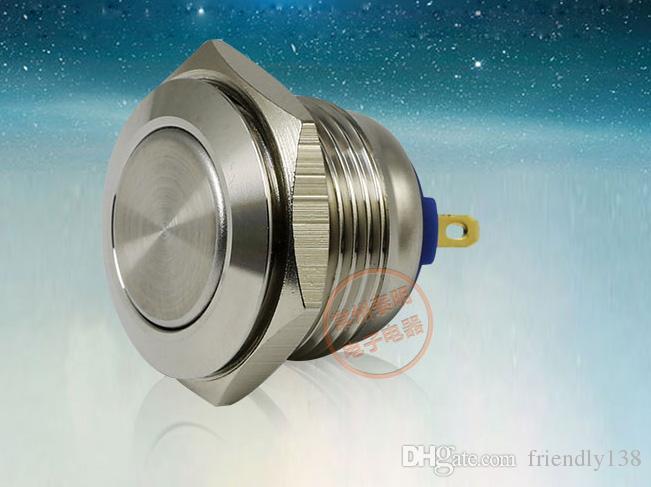 YJ-GQ16F-10 / J 금속 푸시 버튼 스위치 304 스테인레스 스틸 1NO 16mm 직경 셀프 리셋 순간 방수 전원 스위치