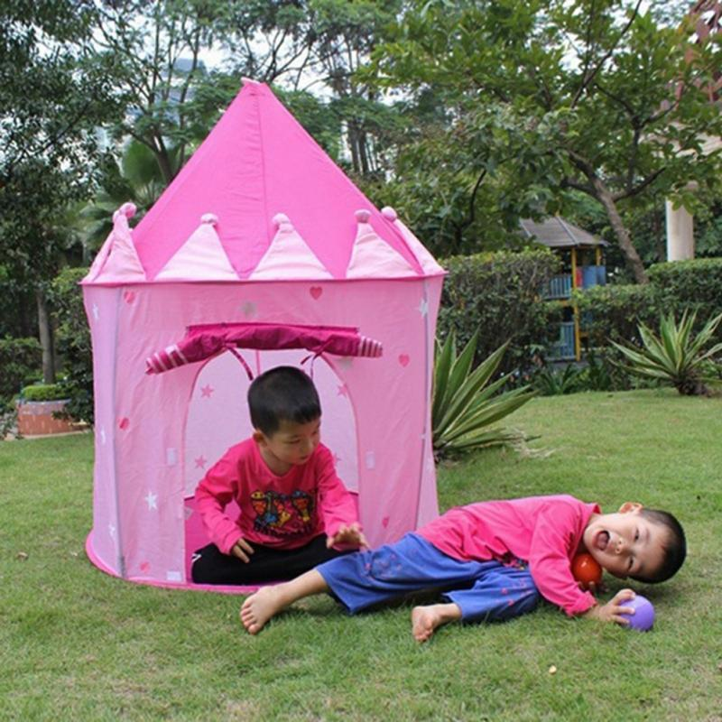 New Portable Princess Castle Tent Pink Children Tent Pop Up Playing Game Kids Girls Outdoor Toy House Kids Bedroom Tent Childrens Tent From Toptoye ... & New Portable Princess Castle Tent Pink Children Tent Pop Up ...