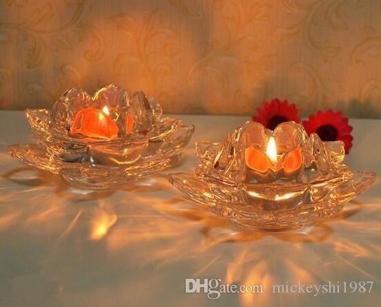 Buddha For The Glass Candle Holder Creative Crystal Candlelight Dinner Candle Table Lotus Lamp Holder Bar Candle Cup Holders