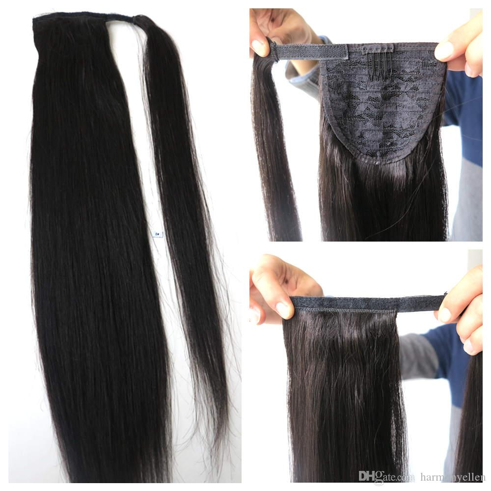 Fashion Human Hair Ponytail Extensions Human Hair Ponytail